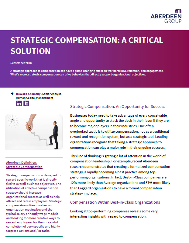 Strategic Compensation Aberdeen Group