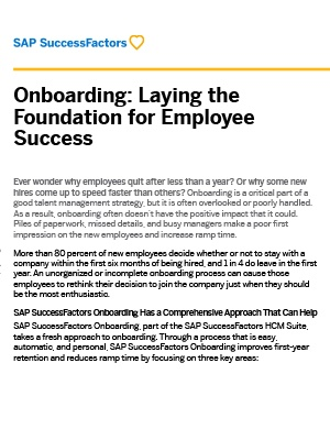 SAP SuccessFactors Onboarding Brochure