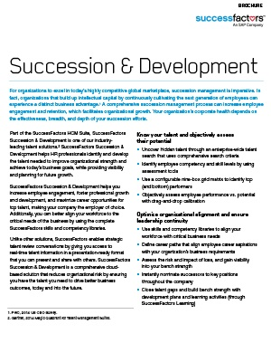 SAP SuccessFactors Succession and Development Brochure